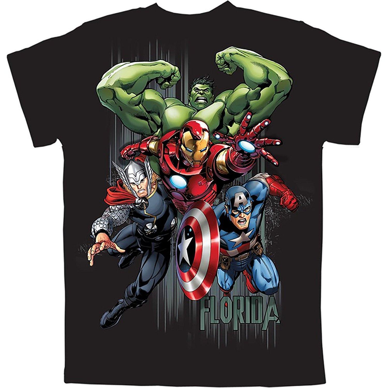 Compre Vingadores Hulk Thor Homem De Ferro Capitão América T Camisa Preta O  Pescoço Moda De Manga Curta T Shirt Para Os Homens De Verão Engraçado  Camiseta ... 9a5f03e05bde3