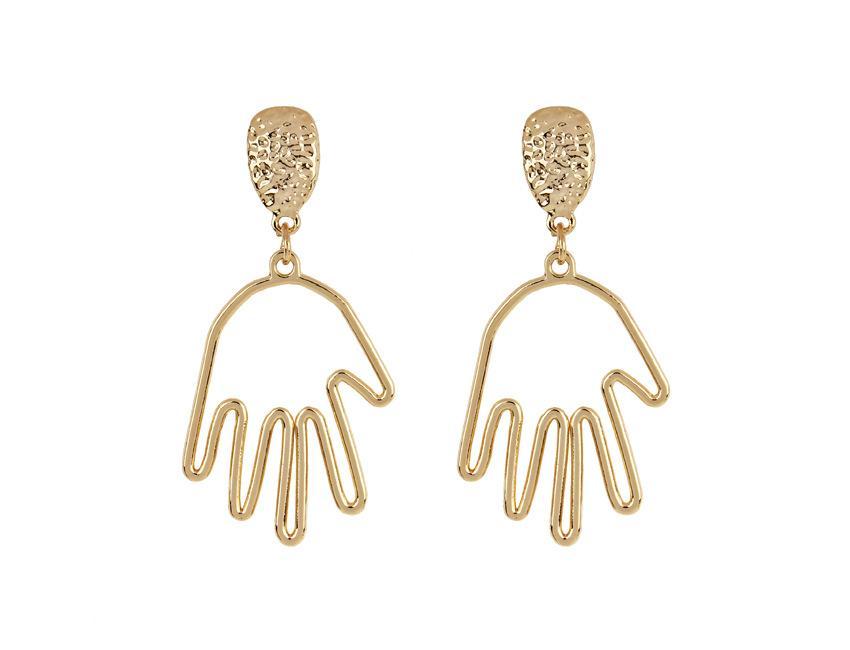 3 stil menschliches abstraktes gesicht ohrringe gold farbe hohl koreanisch gesicht hand ausstehend hängen ohrring für frauen ohrschmuck brinco