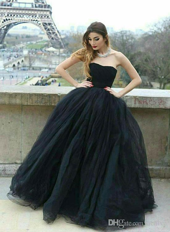 Gorgeous Strapless Ball Gown Evening Dresses 2018 Floor Length Women Prom Dresses Custom Made Cheap Sexy Engagement Gowns China