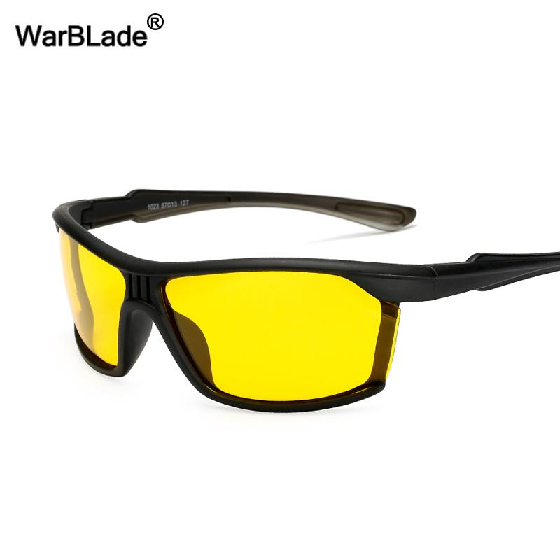 WarBLade Fashion Guys Polarized Sunglasses Men Women Classic Yellow Lense  Night Vision Sun Glasses Night Driving Goggles Glasses