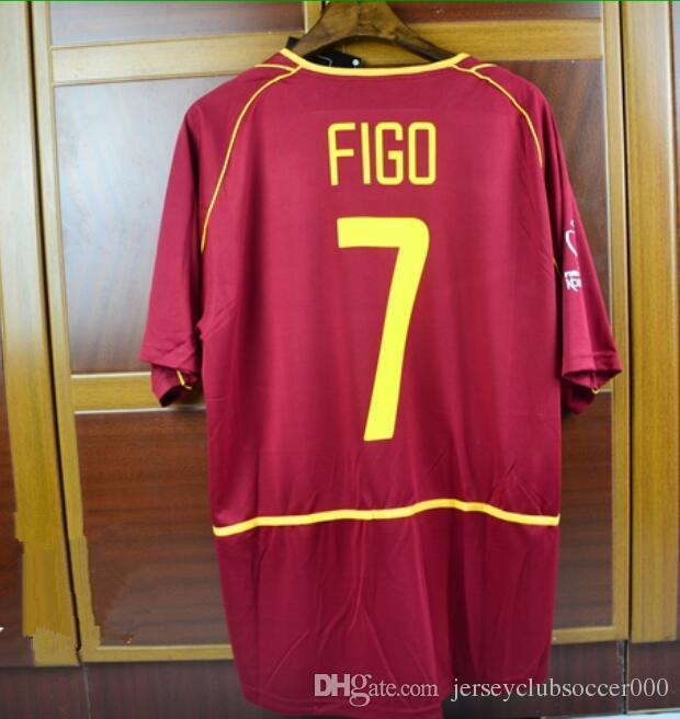 Retro Soccer Jerseys 2002 02 World Cup  7 Figo  10 Rui Costa Jersey ... c9f7a7f5f
