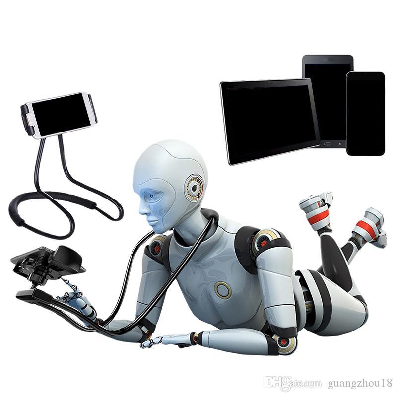 2018 мобильный телефон держатель сотовый держатель небольшой подарок ручной инструмент 55 см длина рука шеи телефон крепление для iPhone Tablet держатель до 19 см ширина