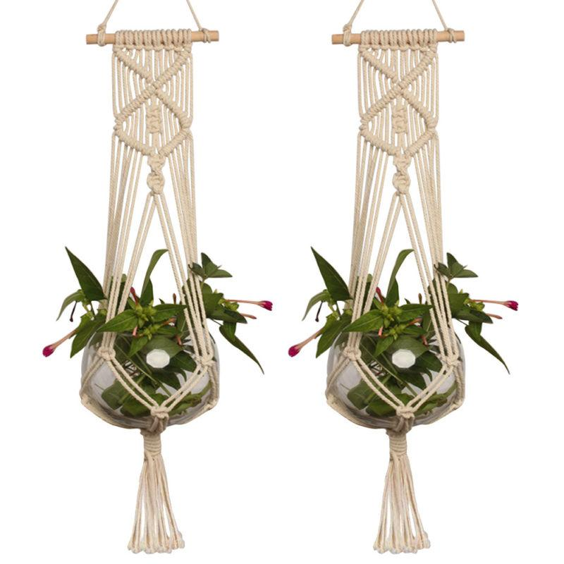 2019 Mayitr Cotton Linen Plant Holder Macrame Plant Hanger Pot
