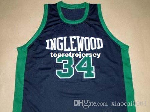 promo code 80cc0 3cbc6 Cheap Mens PAUL PIERCE INGLEWOOD HIGH SCHOOL JERSEY BLACK NEW - ANY SIZE XS  - 5XL Retro Basketball Jerseys