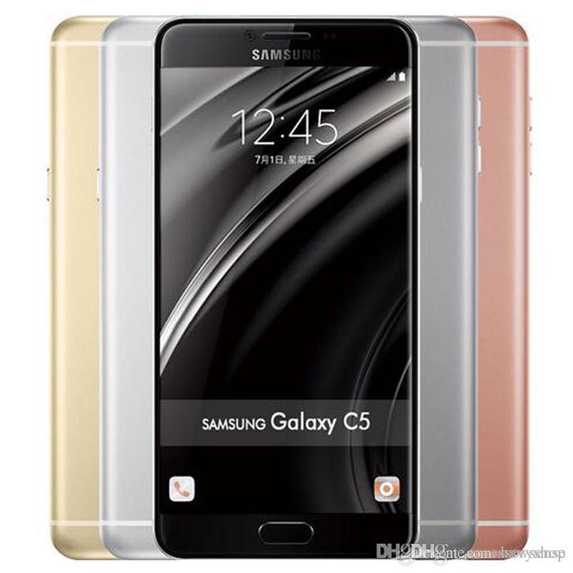 Refurbished Original Samsung Galaxy C5 C5000 Dual SIM 5 2 inch Octa Core  4GB RAM 32/64GB ROM 16MP 4G LTE Android Smart Phone Free DHL 1pcs