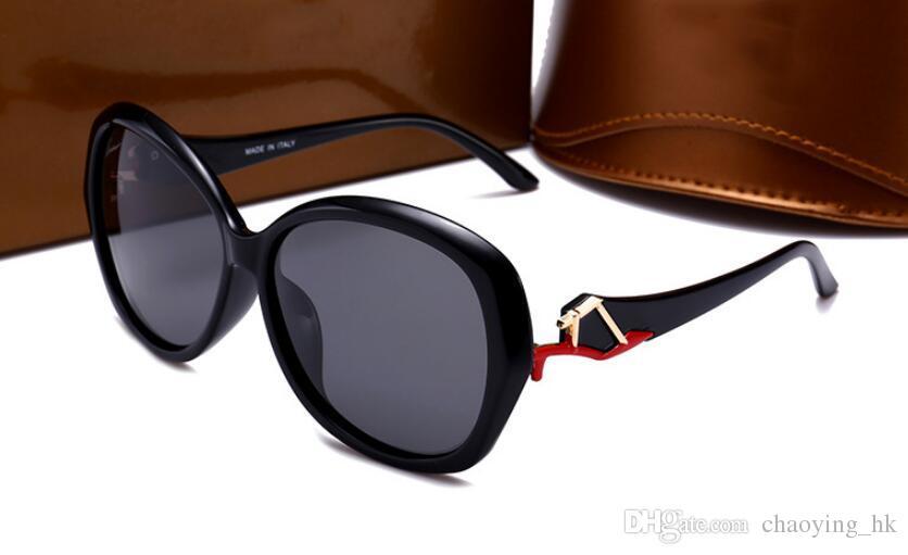 655b8dad2a High Quality New Women's Polarized Sunglasses Resin Retro Big Round ...