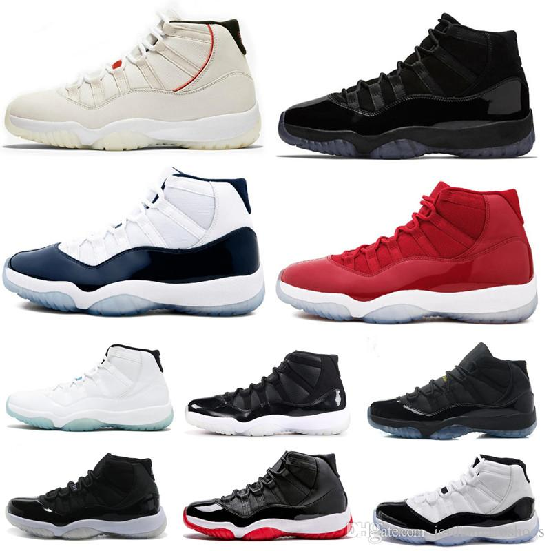 effc0fa04c5ffb Original 11s Basketball Shoes 11 Platinum Tint Concord 45 Blackout ...