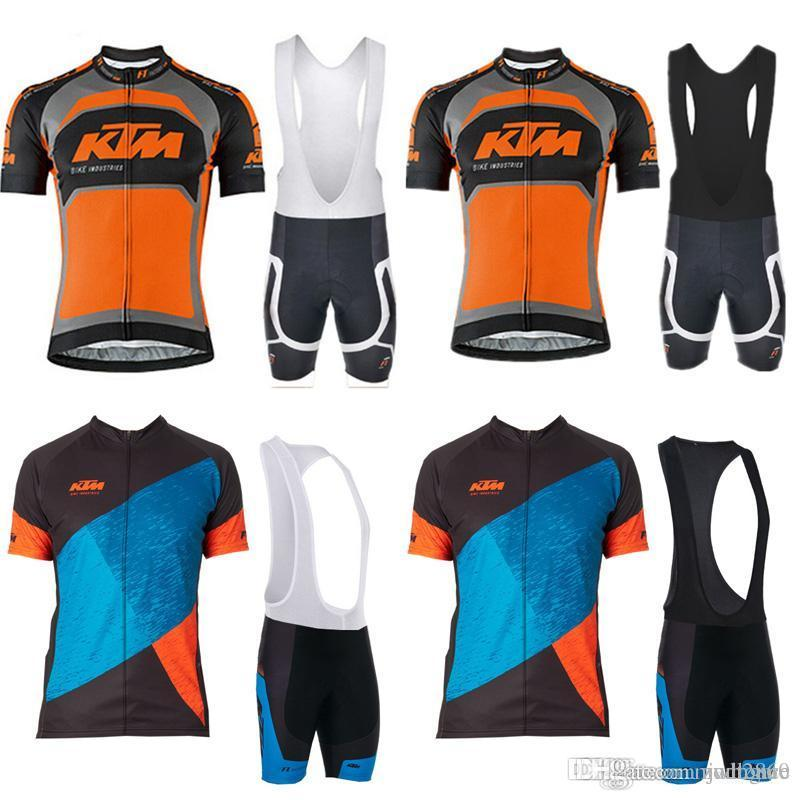 KTM Team Cycling Short Sleeves Jersey Bib Shorts Sets Summer Hot Sale Can Custom  Bike Jersey Set C2418 Funny Cycling Jerseys Custom Cycling Jerseys From ... 04f0f4ebb
