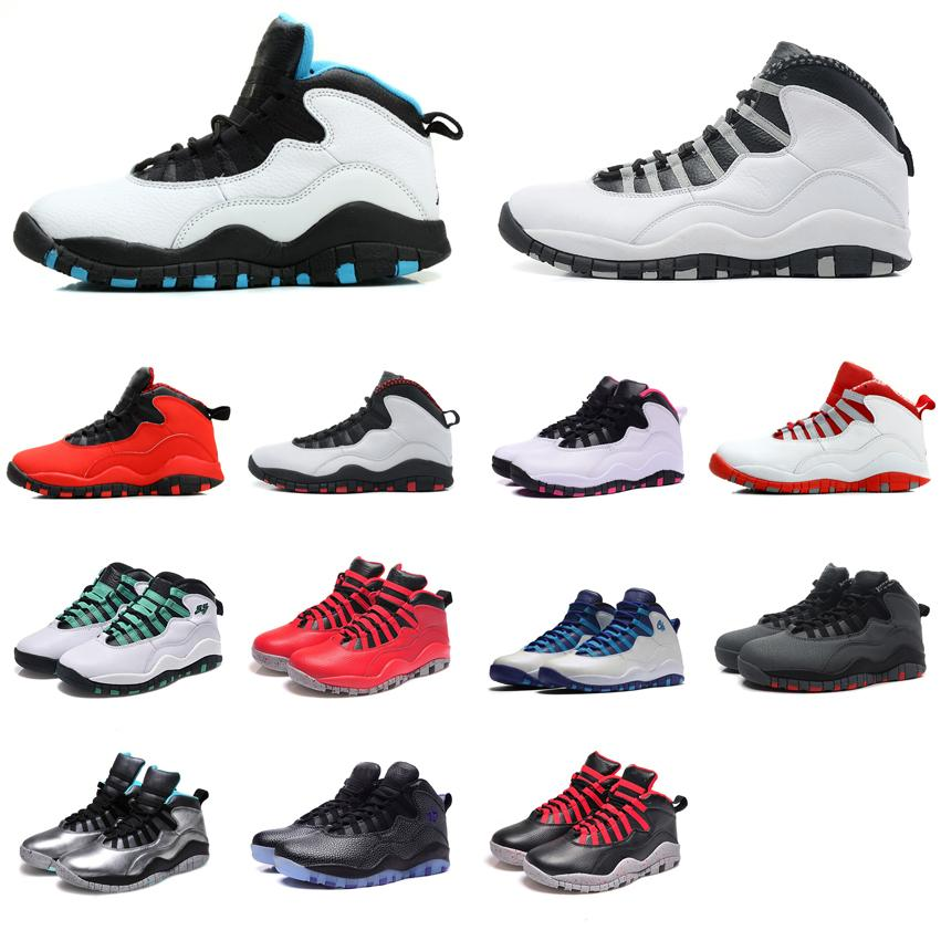 268bb8da55b1bd 2019 Womens Retro 10s Basketball Shoes J10 Orlando Powder Blue Steel White  Purple Boys Girls Youth Kids Aj10 Jumpman 10 X Sneakers Boots With Box From  ...