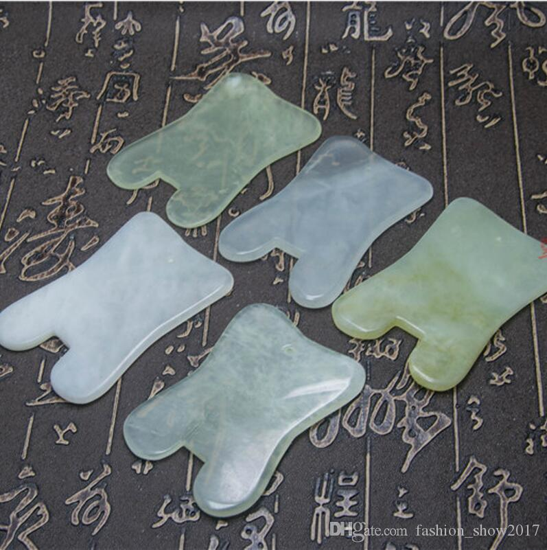 Modern Natural Jade Stone Guasha Gua Sha Board Square Shape Massage Hand Massager Relaxation Health Care Beauty Tool