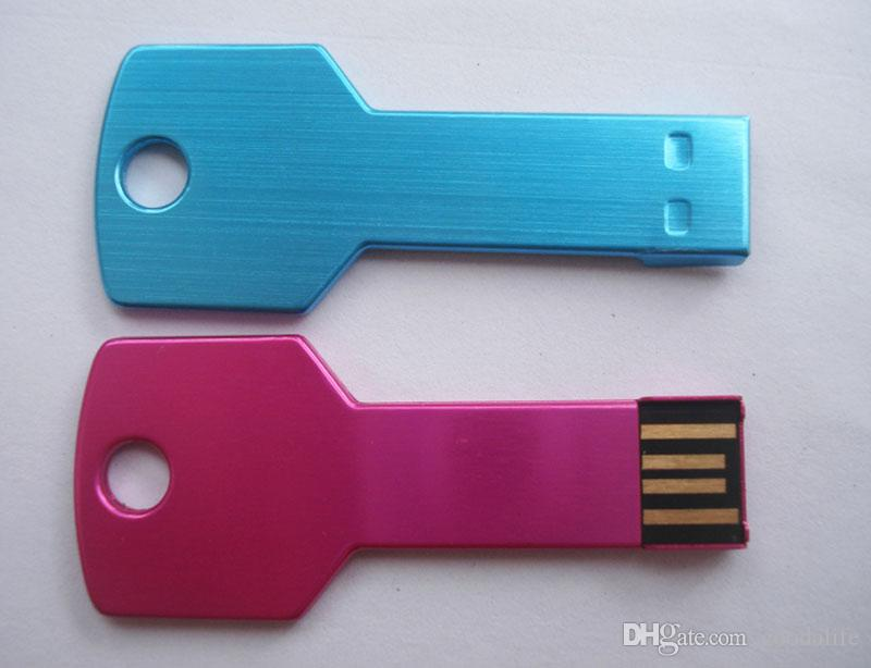 kein Logo Schlüssel 4GB USB-Blitz-Laufwerk Mini 8GB Schlüssel USB Neuer USB-Speicherstick 8GB USB2.0