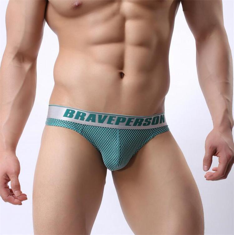 Brave Person Brand New Sexy Underwear Men Thongs Male Thin Gay Bodysuit Low-Waist Bikini G-strings Size S-XL High quality 1153