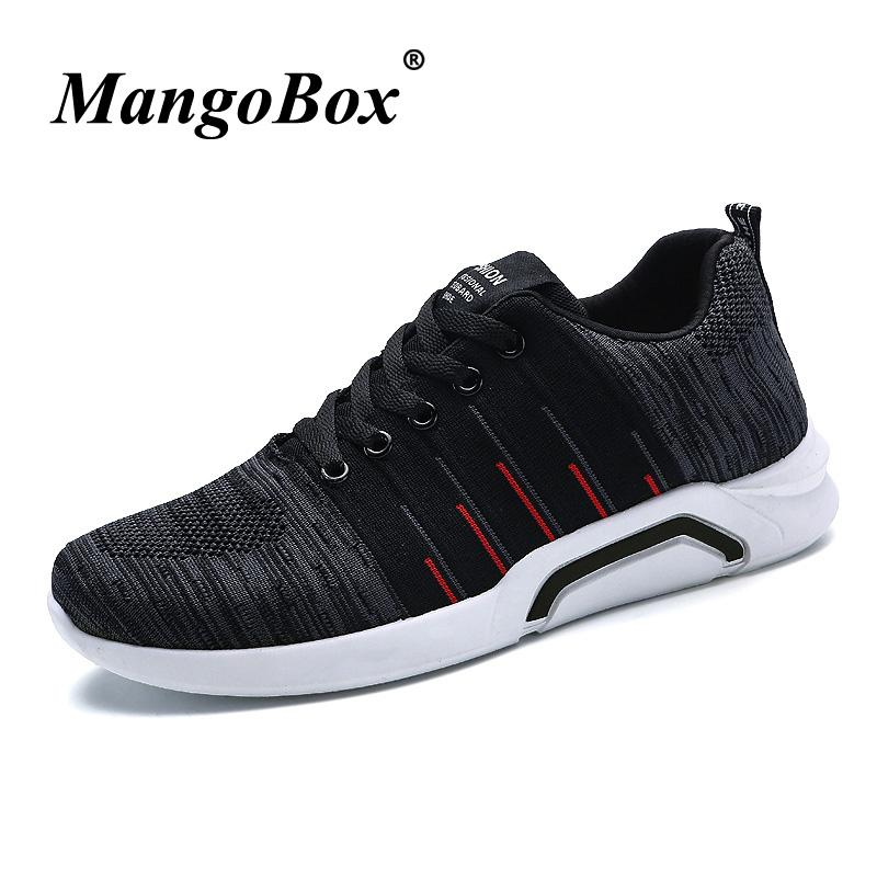 e87cf92befd7 Men Sneakers Black Trail Running Shoes Rubber Sole Outdoor Sneakers ...