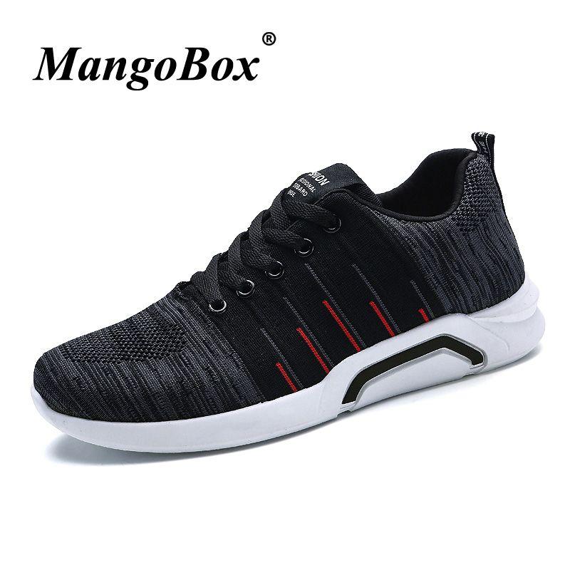 more photos 71a62 7e2f8 Sneakers da uomo Scarpe da trail running nere Suole in gomma Sneakers da  esterno Air Mesh Scarpe da passeggio atletiche Primavera Estate