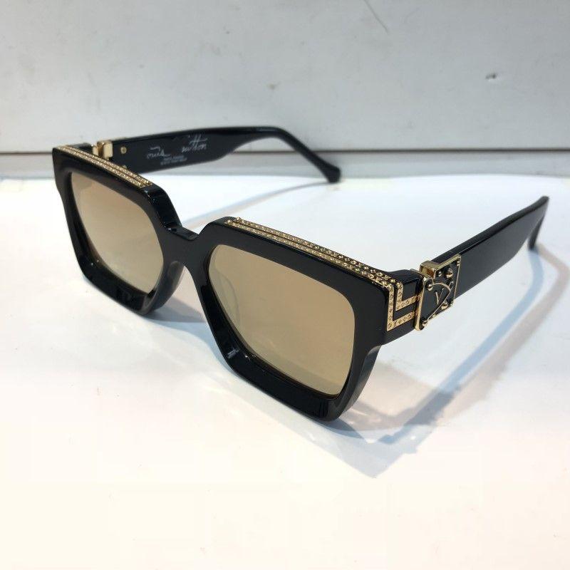 137ced66d8ee1 MILLIONAIRE luxo M96006WN Sunglasses full frame óculos de sol do desenhador  do vintage para homens Ouro Brilhante Logotipo venda Quente Banhado A Ouro  Top ...