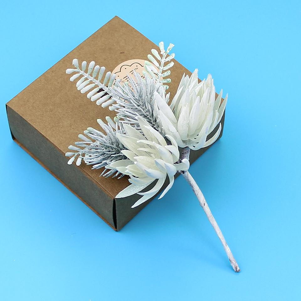Mini Plastic Artificial Flowers Corsage DIY Scrapbook For Wedding Christmas Party Decoration Handmade Gifts Supplies
