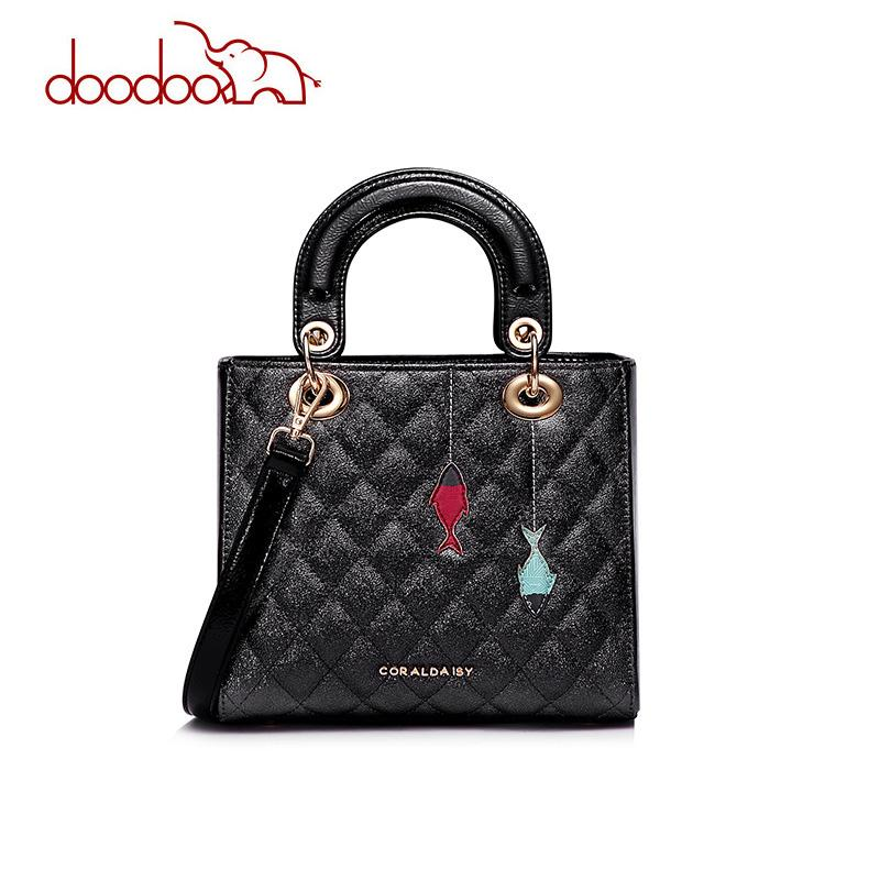 53774293aebd Doodoo Luxury PU Leather Women Handbag Fashion Original Girl Top ...