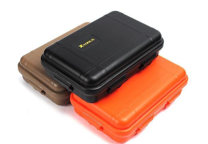Equipo de viaje al aire libre A prueba de golpes EDC Gadgets de supervivencia al aire libre Caso de la caja impermeable al aire libre Kit de viaje para acampar Senderismo Pesca