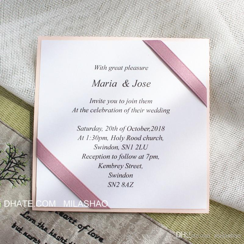 diy wedding invitation free personalized printing elegant flat paper