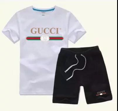 e3a65ce2456 2019 NEW GUCCI New Style Children S Clothing For Boys And Girls Sports Suit  Baby Infant Short Sleeve Clothes Kids Set 2 7T  555 From Clover 666
