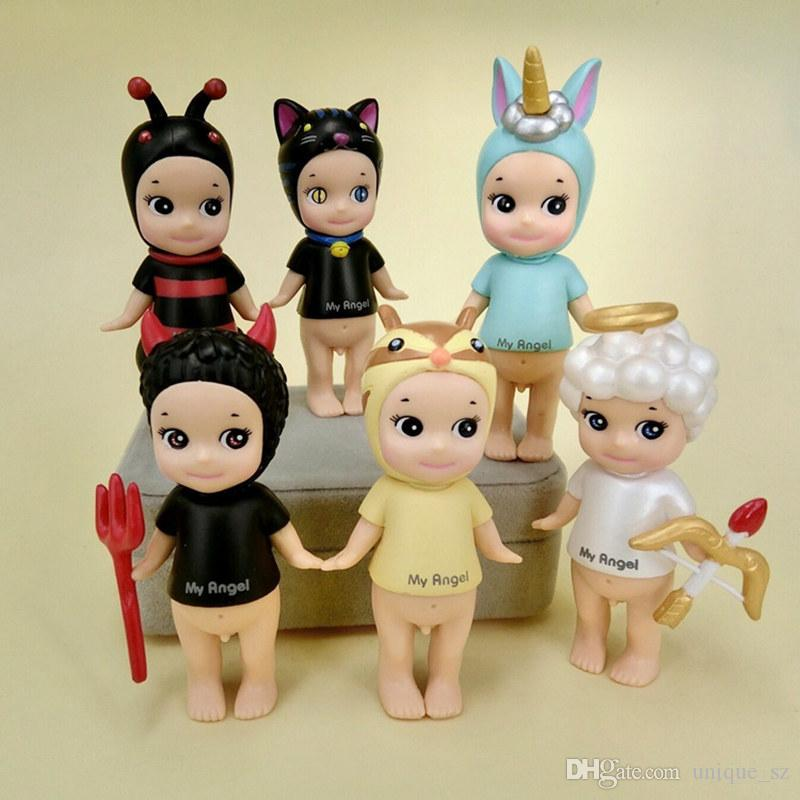 Original Sonny Angel Animal Baby Doll Cute Kawaii PVC action figure toys Angel Collectible Model Gift for Baby Kids DHL