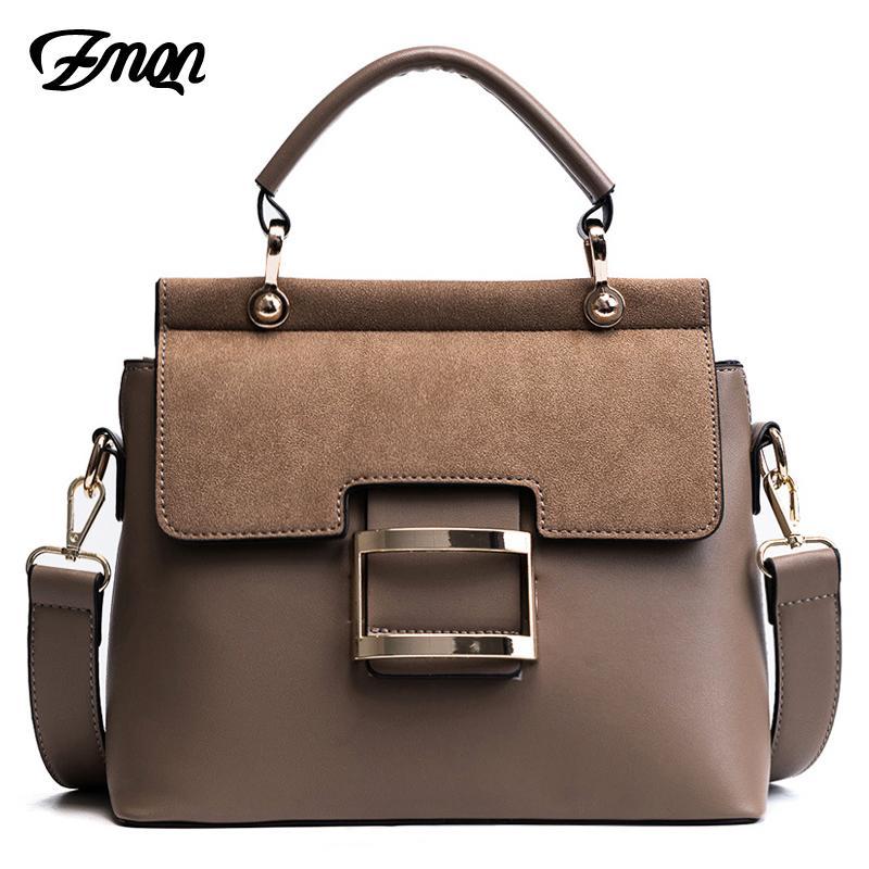 770c1eb589c2 ZMQN Women Bag Vintage Shoulder Bags 2018 Buckle PU Leather Handbags  Crossbody Bags For Women Famous Brand Spring Sac Femme C219 Best Messenger  Bags ...