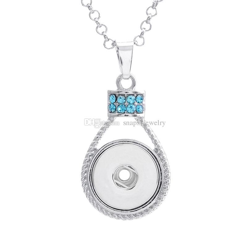 Estilos mixtos Noosa trozos de cristal redondo botón a presión collar encaja 18 mm joyería de botón de jengibre para las mujeres