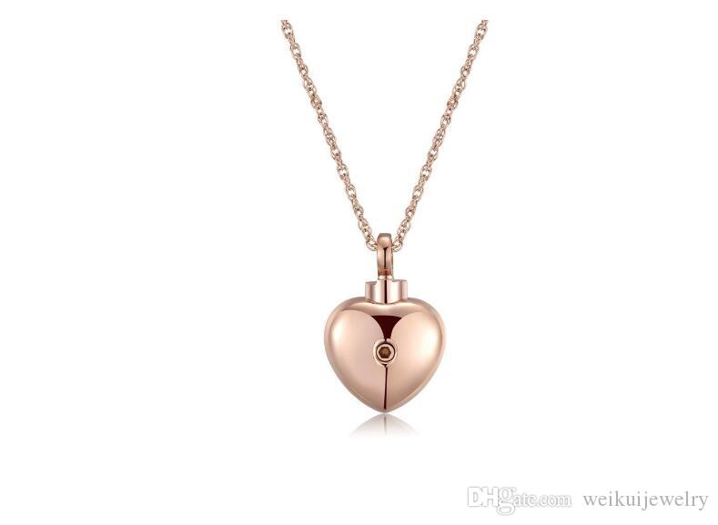 1401a4b6a Wholesale 316 Stainless Steel Heart Shape Can Open Perfume Bottle Pendant  Necklace Funeral Cremation Urn To Commemorate Family Pet Jewelry Handmade  ...