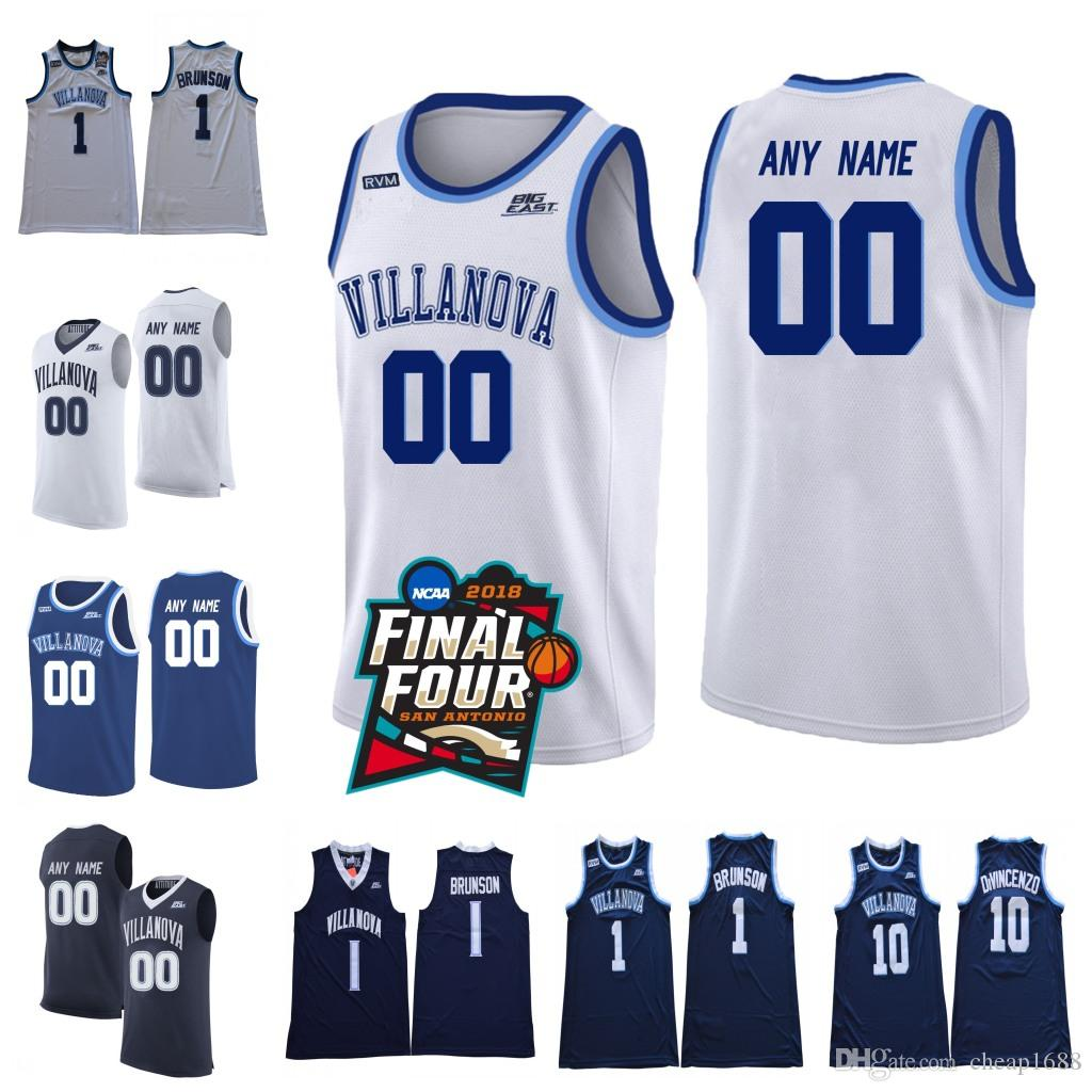 e679bd427b74 2019 Custom Villanova Wildcats 2018 Final Four Champions White Navy Blue  Stitched Any Name Number NCAA College Basketball Jerseys From Cheap1688