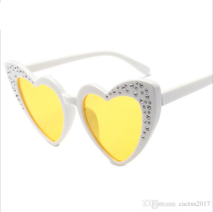 8ccf508789 2018 Diamond Heart Shape Kids Sunglasses Retro Designer Bling Cute 90s  Lolita Girl Children Sun Glasses Shades Cheap Prescription Sunglasses  Oversized ...