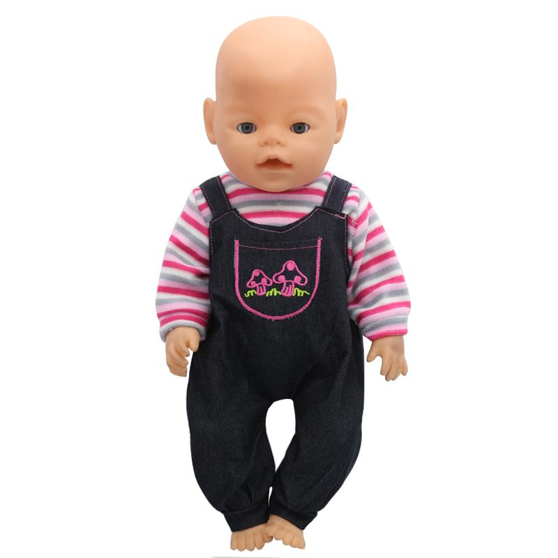 Baby Born Doll Clothes Colorful Stripes Romper Suit Fit 43cm Zapf Accessories Birthday Gift X 143 Drop Shipping Toy