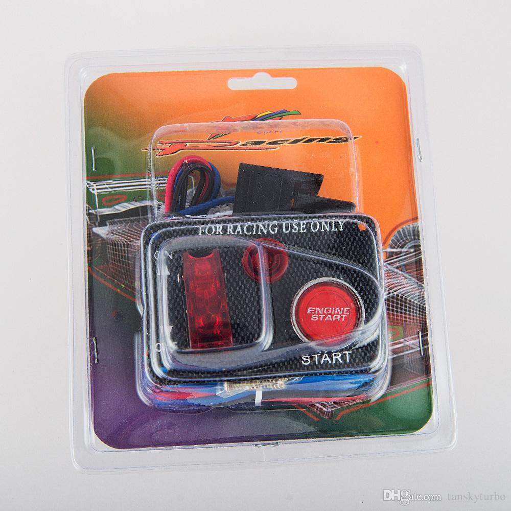 Новый 12V Красный светодиод Гоночный автомобиль Пуск двигателя Кнопка Переключатель зажигания Панель Переключатель Горячий EP-RSK3011