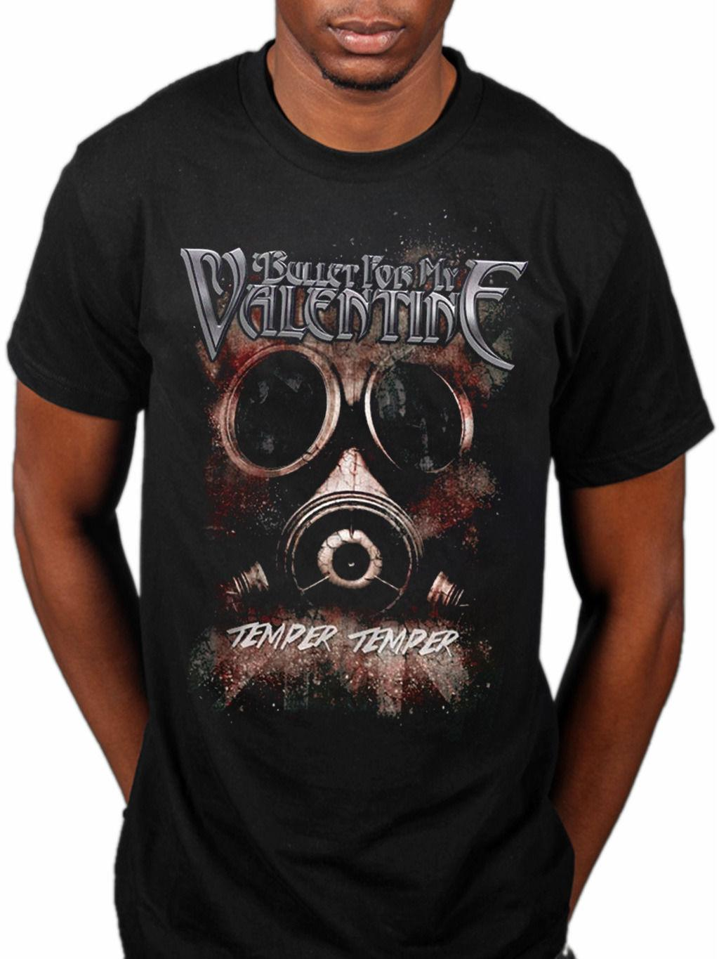 Official Bullet For My Valentine Temper Temper Gas Mask T Shirt New