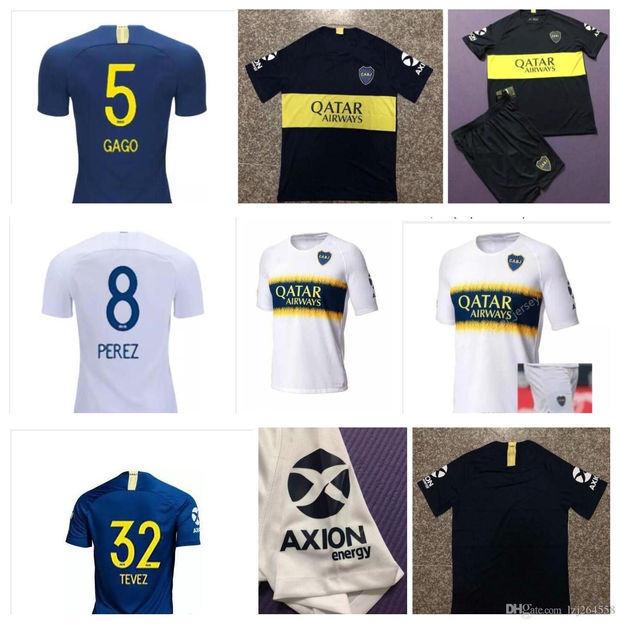 b601a2dd30767 Compre Novo 2018 Camisa Boca Juniors Jersey 2019 Camisas De Futebol Camisa  De Futebol GALO OSVALDO Uniforms Camisetas De Futebol TOP TEVEZ  Personalizado De ...