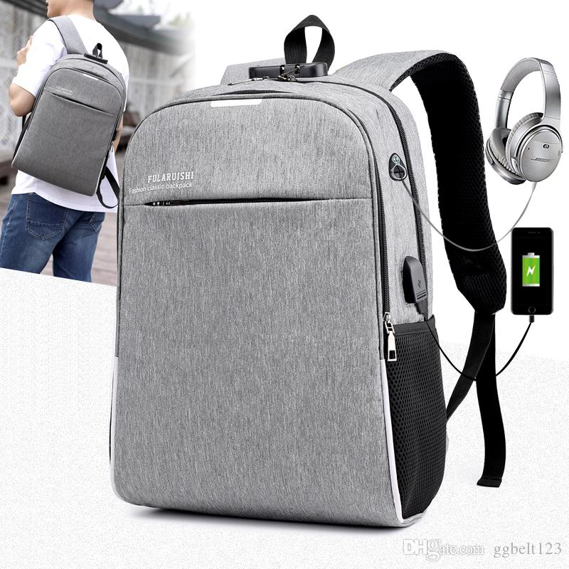 Men s And Women s Oxford USB Charging Backpacks Casual Travel Bags ... 5ce4839a0b0d1