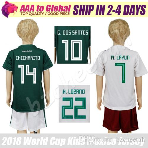 465e4a80ec5 Kids Mexico Jersey 2018 19 World Cup Mexico Young Jerseys Kits 2018 ...