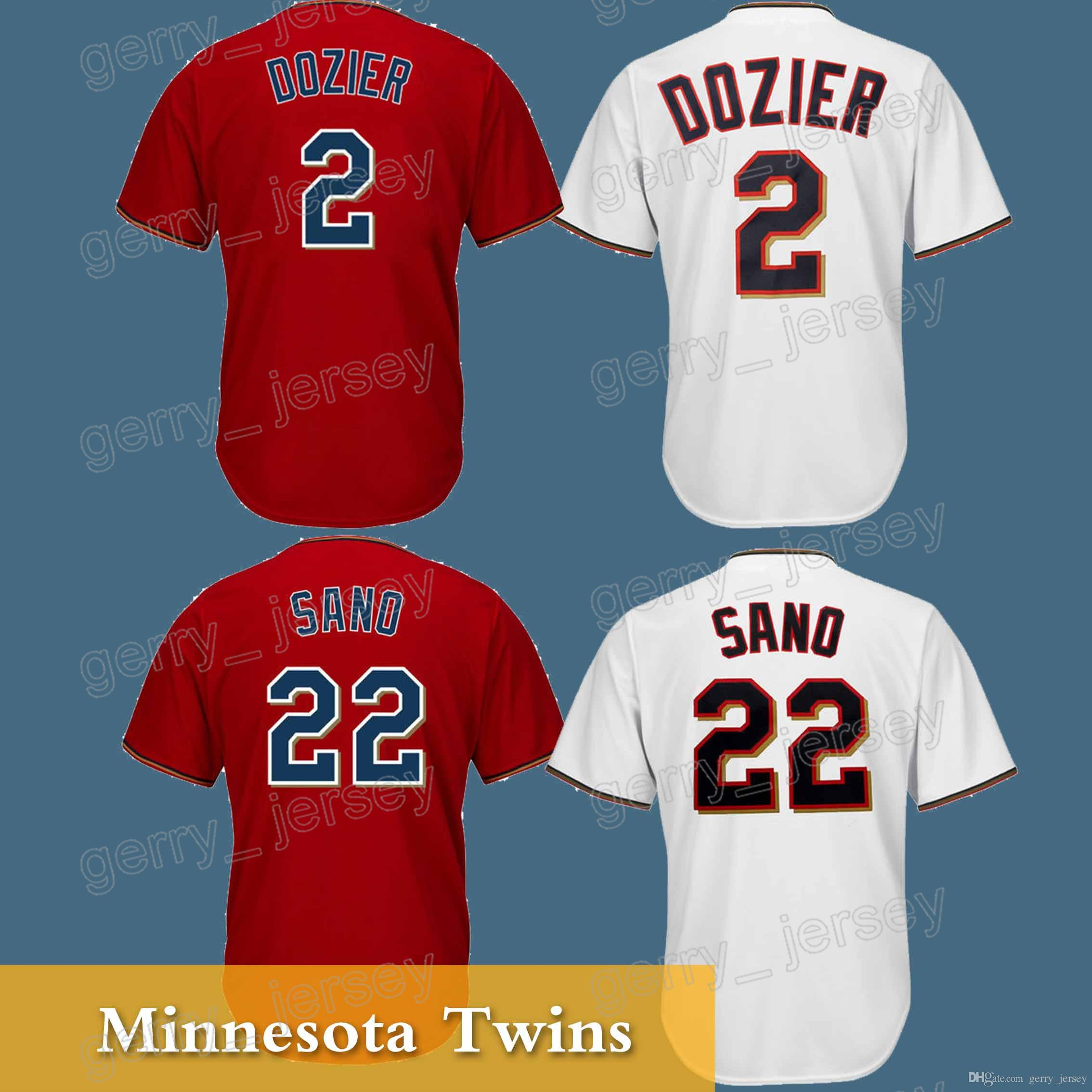 6ed2767d2 ... spain minnesota twins 2 brian dozier jersey 18 19 22 miguel sano high  quality hot sale