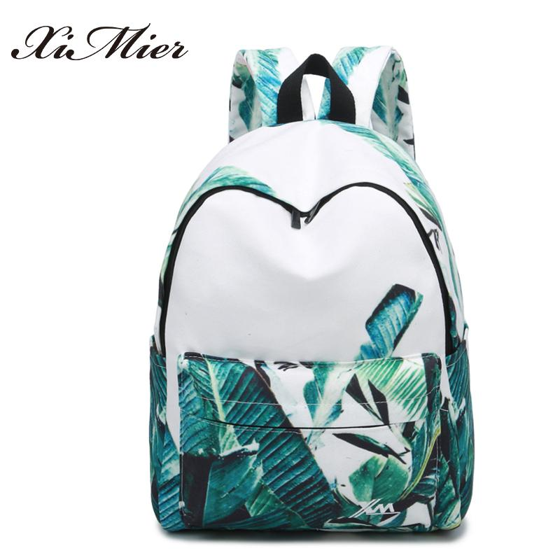 360fd59ce56a Fashion Printing Women Backpack Beautiful Leaves Big School Bags For Girls  Gorgeous Multifunction Female Travel Canvas Backpacks Backpacks For Men  Jansport ...