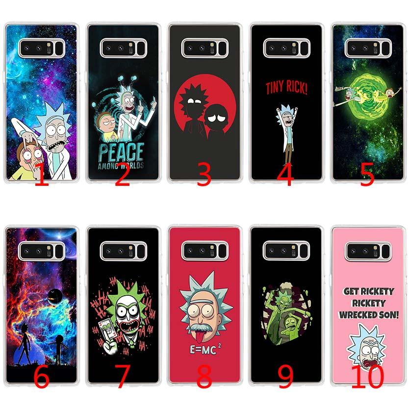 new product 87256 50bc8 Rick And Morty Soft Silicone TPU Case for Samsung S7 Edge S8 Plus S9 Plus  Note 9 8 Cover