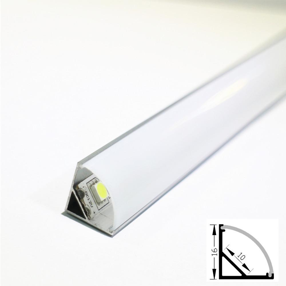 10pcs 1m Led Aluminum Profile Tube For 5050 5630 Led Cabinet Rigid Bar Light Strip Housing Channel With Cover End Cap Clip Shell Led Bar Lights