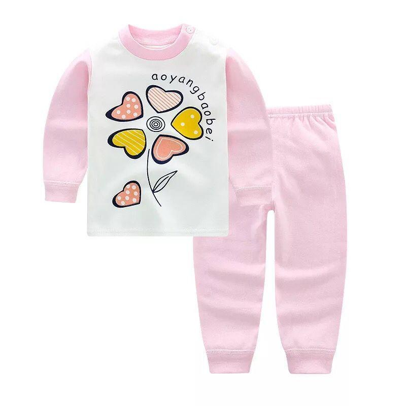 2247972e4 Compre Bebê Meninas Pijama Conjuntos De Roupas Dos Desenhos Animados Pijamas  Terno De Manga Longa Dos Desenhos Animados Pijamas Desgaste Casa De Algodão  ...