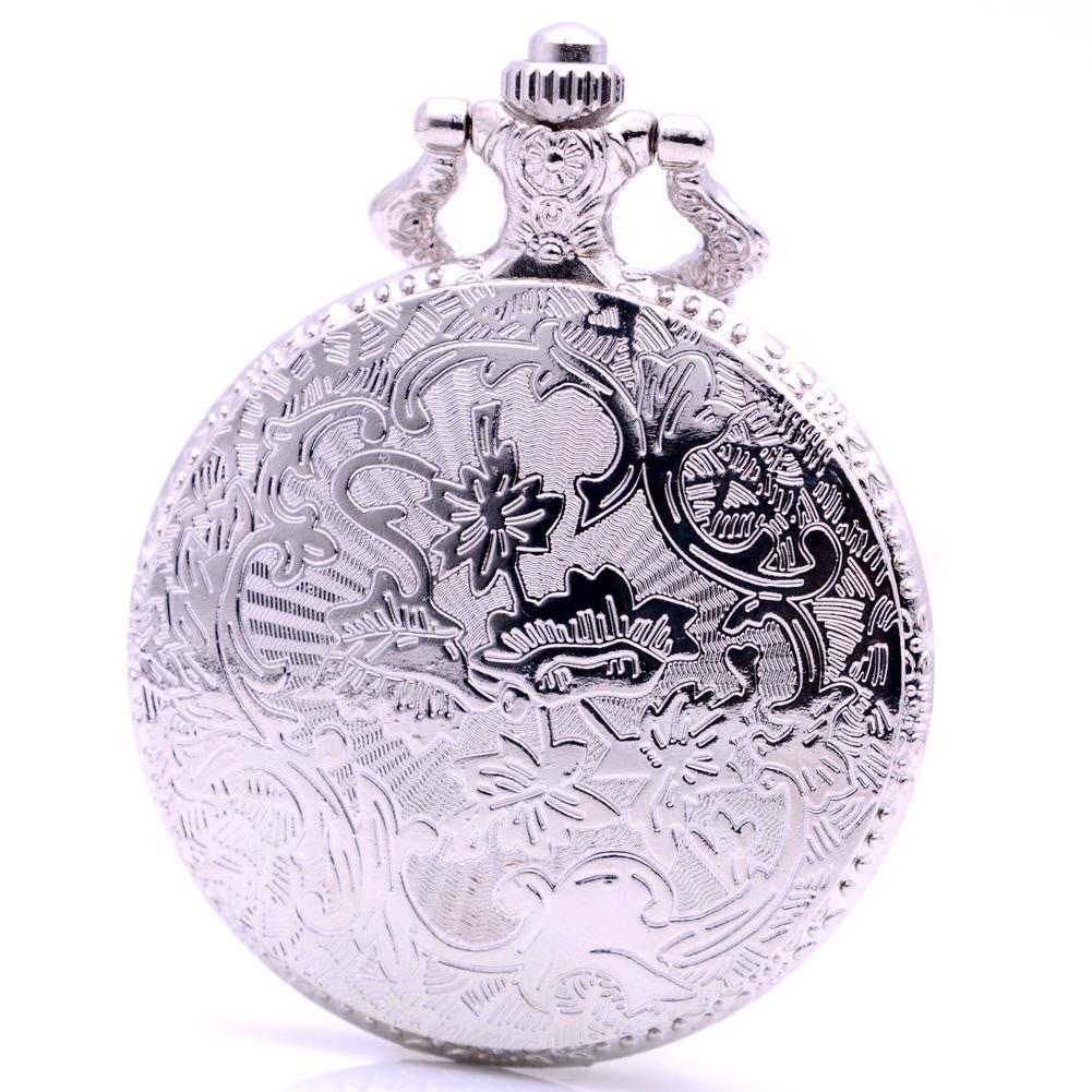 Classic Bronze BOLSHEVIK Quartz Pocket Watch With Neckalce Chain Man Vintage Fob Watches Men Ancient Gift Reloj