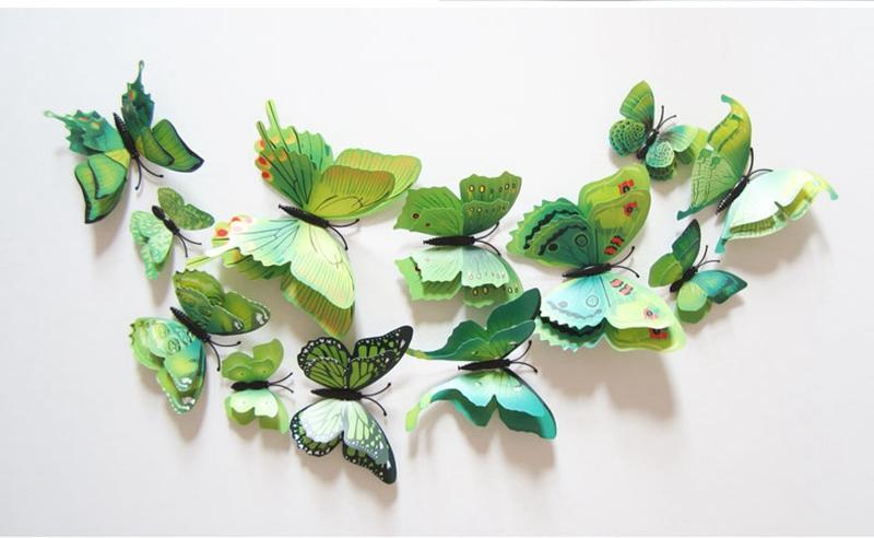 Los Aschenputtel-Schmetterlings-3D Schmetterlings-Dekorations-Wand-Aufkleber-3D Schmetterlinge PVC-entfernbare Wand-Aufkleber Butterflys DHL geben Verschiffen frei