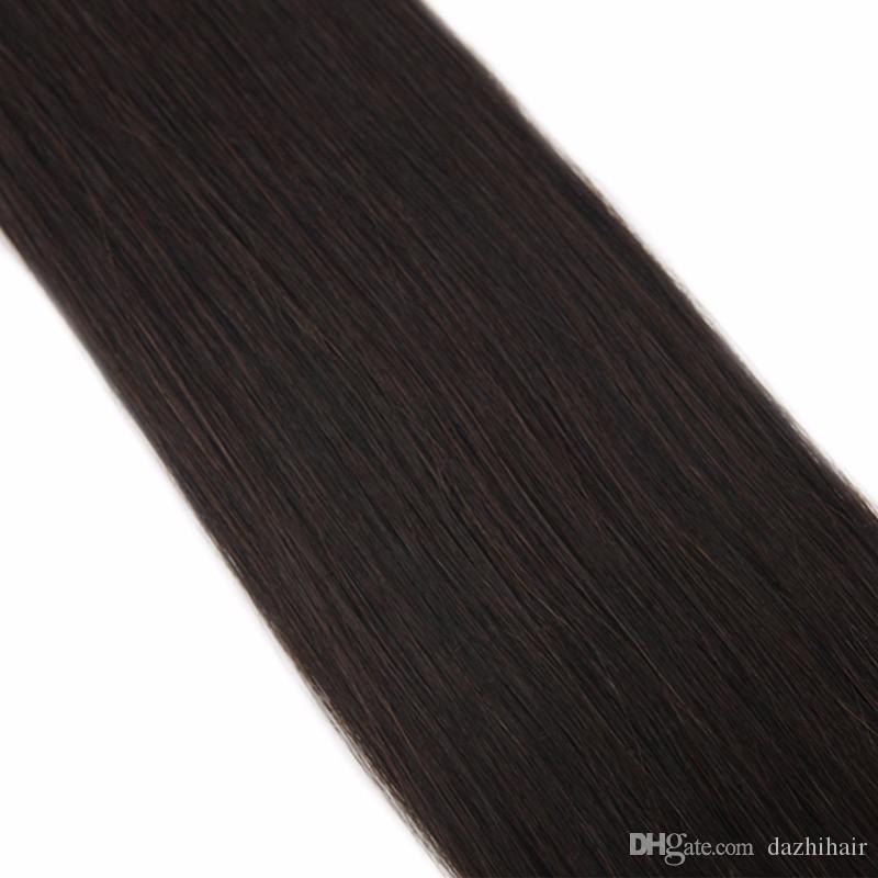 Extensões de trama do cabelo da fita das extensões do cabelo humano da pele # 2 50g 100g Extensões brasileiras sem emenda do cabelo de Remy