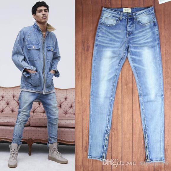 1d448f3daff 2019 Men Ripped Jeans KANYE Justin Bieber Fashion Designer Rock Star Mens  Jumpsuit Designer Denim Male Pants J03 From Superguys