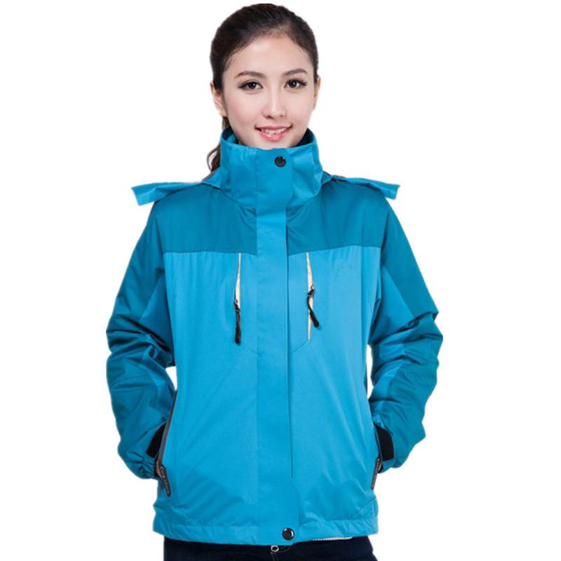 bc31941d2bc6 2019 Outdoor Authentic Two Piece Emergency Clothing Women S Wind Proof Warm  Removable Three In One Climbing Ski Suit From Minglian1233