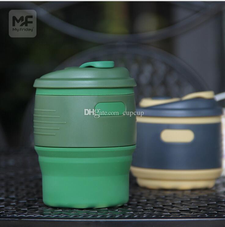 Sıcak Yeni Katlanır Silikon Kupası Taşınabilir Teleskopik Içme Katlanabilir Kahve Fincanı Çok fonksiyonlu Katlanır Seyahat Su Kupa DDA387