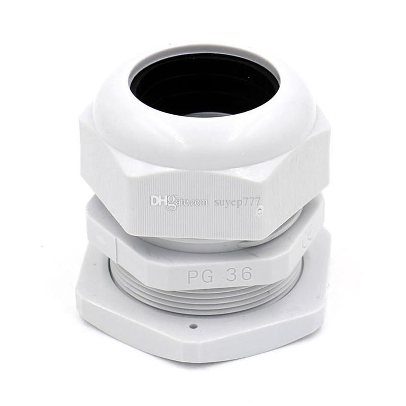 1 PZ Glands Cable Suyep PG36 Black White Waterproof Regolabile connettori connettori giunti con guarnizioni 22-32mm elettrodomestici elettrici