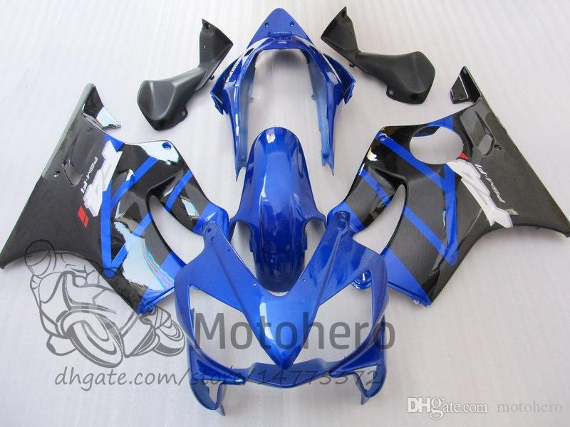 New 100% Fit Injection molding for HONDA CBR 600 F4i fairings 2004 2005 2006 2007 CBR600 F4i bodyworks 04 05 06 07 F4i Blue Black D3255