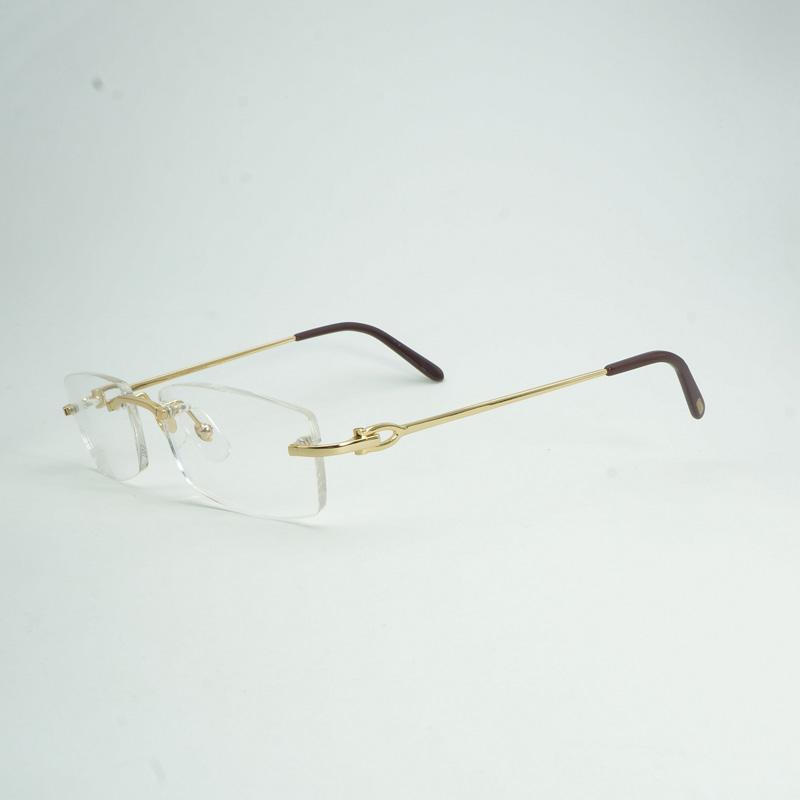 Compre Lujo Sin Montura Gafas Claras Marco Hombres Diseñador De La Marca  Gafas Cuadradas Hombres Oval Gafas De Lectura Oculos Gafas 011 A  78.1 Del  ... dcae741df7aa